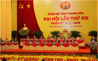 Chủ tịch Quốc Hội Nguyễn Thị Kim Ngân dự và chỉ đạo Đại hội Đảng bộ tỉnh Thanh Hóa lần thứ XIX