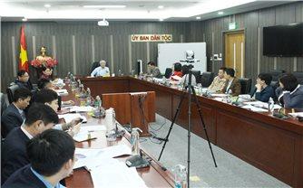 Thông qua dự thảo Báo cáo tổng kết Đại hội đại biểu toàn quốc các DTTS Việt Nam lần thứ II năm 2020