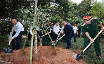 Chủ tịch nước Nguyễn Xuân Phúc dự Lễ phát động trồng cây tại Khu di tích lịch sử K9
