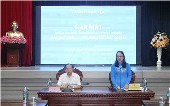 Ủy ban Dân tộc: Gặp mặt Đoàn đại biểu Người có uy tín và người dân tộc thiểu số tiêu biểu tỉnh Thái Nguyên