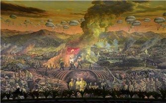 Bức tranh Panorama - tái hiện toàn cảnh Chiến dịch Điện Biên Phủ