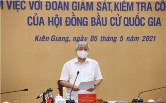 Kiểm tra công tác bầu cử tại Kiên Giang