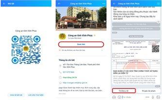 Trả mã QR sau khi khai báo y tế cho người dân qua ứng dụng Zalo