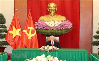 Tổng Bí thư Nguyễn Phú Trọng điện đàm với Tổng thống Sri Lanka