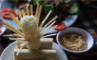 Độc đáo món cơm lam