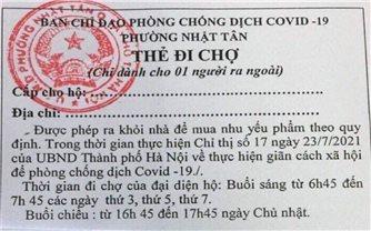 Hà Nội thí điểm phát thẻ đi chợ theo giờ