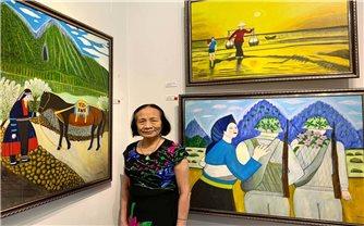 """Bà giáo 76 tuổi và cuộc """"dạo chơi"""" với sắc màu hội họa"""