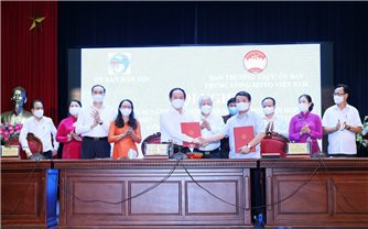 Đẩy mạnh công tác phối hợp giữa Ủy ban Dân tộc và Ủy ban Trung ương MTTQ Việt Nam
