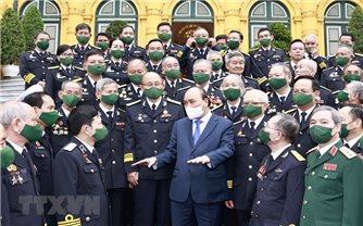 Chủ tịch nước gặp mặt đại biểu hải quân và cựu chiến binh Đường Hồ Chí Minh trên biển