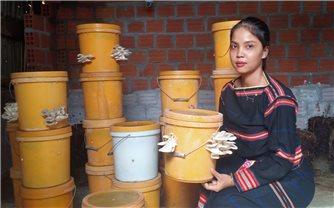 Cô gái Gia Rai đầu tiên đưa mô hình trồng nấm sạch về làng