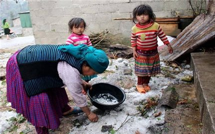Lào Cai: Mưa đá làm hư hỏng gần 100 nhà dân