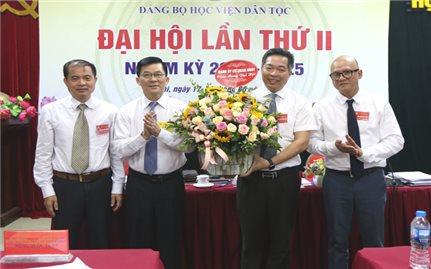 Học viện Dân tộc tổ chức thành công Đại hội Đảng bộ khóa II, nhiệm kỳ 2020-2025