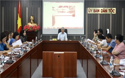 Bộ trưởng, Chủ nhiệm UBDT làm việc với Tiểu ban Tuyên truyền - Khánh tiết Đại hội Đại biểu các DTTS Việt Nam lần thứ II