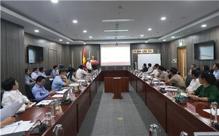 Bộ trưởng, Chủ nhiệm Đỗ Văn Chiến nghe báo cáo nội dung triển khai Nghị quyết số 120/2020/QH14