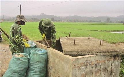 Bể thu gom rác thải thuốc BVTV: Góp phần giữ sạch cánh đồng Mường Thanh