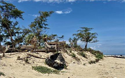 Thừa Thiên - Huế khắc phục sạt lở bờ biển sau bão số 5