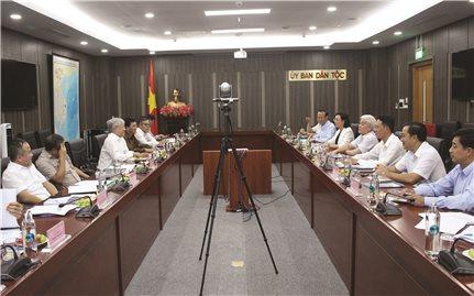 Bộ trưởng, Chủ nhiệm UBDT Đỗ Văn Chiến làm việc với lãnh đạo tỉnh Bình Phước