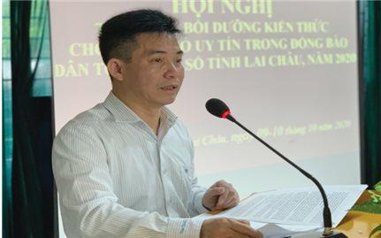 Ban Dân tộc tỉnh Lai Châu: Tập huấn, bồi dưỡng kiến thức cho Người có uy tín