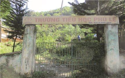 """Quan Hóa (Thanh Hóa): Trường lớp sụt lún, thầy trò phải """"di cư"""" tìm chỗ học nhờ"""