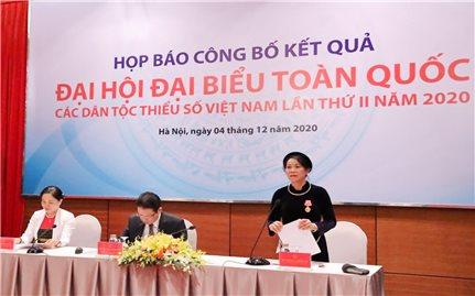 Họp báo Công bố kết quả Đại hội đại biểu toàn quốc các DTTS Việt Nam lần thứ II, năm 2020
