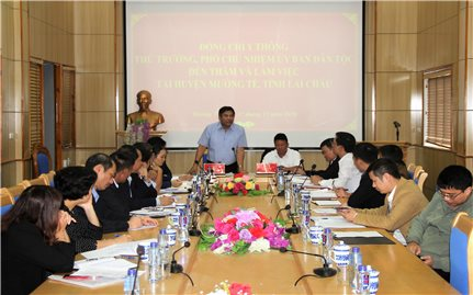 Đoàn Công tác của Ủy ban Dân tộc kiểm tra việc thực hiện chính sách dân tộc tại huyện Mường Tè