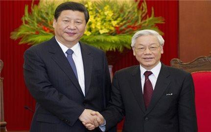 Lãnh đạo Việt Nam – Trung Quốc trao đổi điện mừng