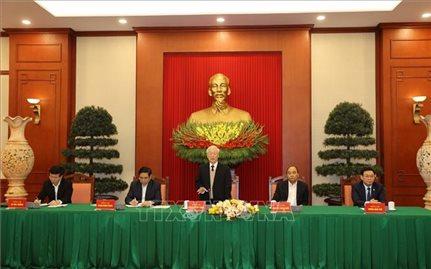 Bộ Chính trị gặp mặt thân mật các đồng chí nguyên Ủy viên BCT, BBT và TƯ Đảng khóa XII