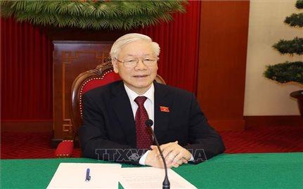 Tổng Bí thư Nguyễn Phú Trọng điện đàm với Tổng thống Liên bang Nga V. Putin