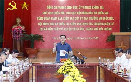 Chủ tịch Quốc hội Vương Đình Huệ: Công tác tổ chức bầu cử phải đảm bảo đúng luật