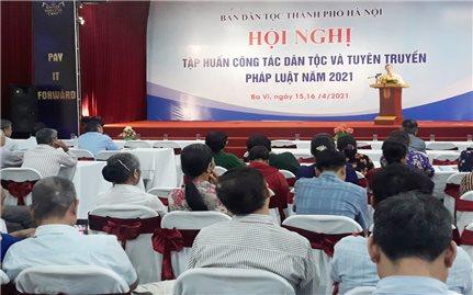 Ban Dân tộc TP. Hà Nội: Tuyên truyền, phổ biến giáo dục pháp luật cho đồng bào DTTS