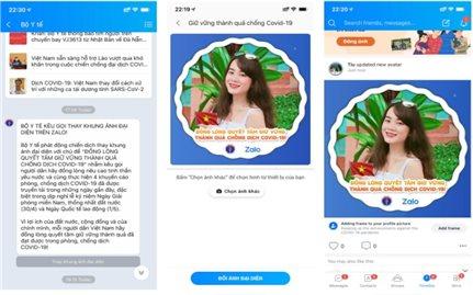 Bộ Y tế kêu gọi thay ảnh đại diện và ảnh bìa trên trang mạng xã hội cá nhân để nêu cao tinh thần phòng, chống dịch Covid-19