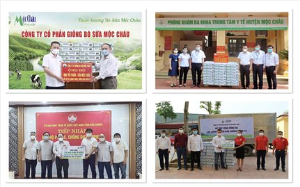Mộc Châu Milk: Hơn 50.000 sản phẩm sữa đến với các tâm dịch tại Vĩnh Phúc, Bắc Giang, Sơn La