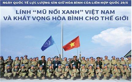 Lính 'mũ nồi xanh' Việt Nam và khát vọng hòa bình cho thế giới