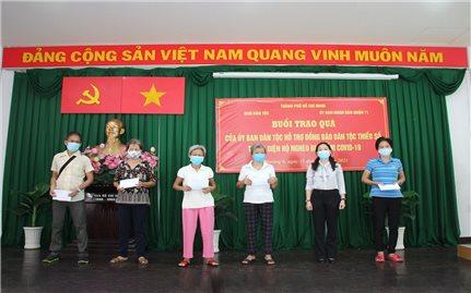 Ban Dân tộc TP. Hồ Chí Minh: Trao quà hỗ trợ đồng bào DTTS thuộc diện hộ nghèo bị nhiễm Covid-19