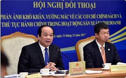 Bộ trưởng, Chủ nhiệm VPCP, Mai Tiến Dũng đối thoại với Hiệp hội Doanh nghiệp Nhật Bản