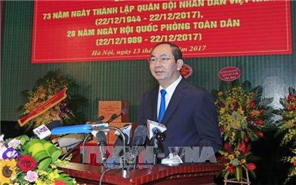 Chủ tịch nước dự kỷ niệm 73 năm thành lập Quân đội nhân dân Việt Nam