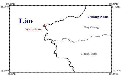 Động đất 3,2 độ richter ở khu vực biên giới Việt Nam - Lào