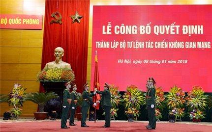 Bộ Quốc phòng công bố quyết định thành lập Bộ tư lệnh Tác chiến không gian mạng