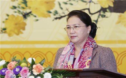 Chủ tịch Quốc hội Nguyễn Thị Kim Ngân gặp mặt báo chí nhân dịp Xuân Kỷ Hợi 2019