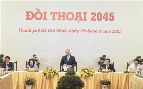 """Thủ tướng """"Đối thoại 2045"""": Lắng nghe tiếng nói từ giới tinh hoa"""