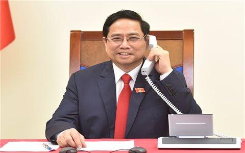 Thủ tướng Lào và Campuchia chúc mừng Thủ tướng Phạm Minh Chính