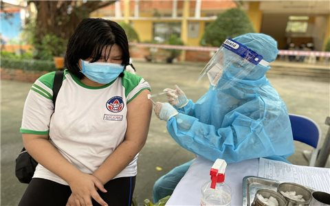 TP. Hồ Chí Minh bắt đầu tiêm vaccine phòng COVID-19 cho trẻ em