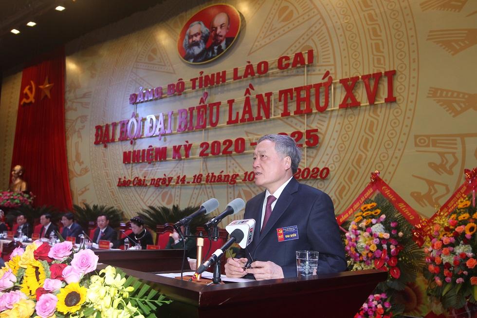 Bí thư Trung ương Đảng, Chánh án Tòa án Nhân dân tối cao Nguyễn Hòa Bình phát biểu chỉ đạo Đại hội