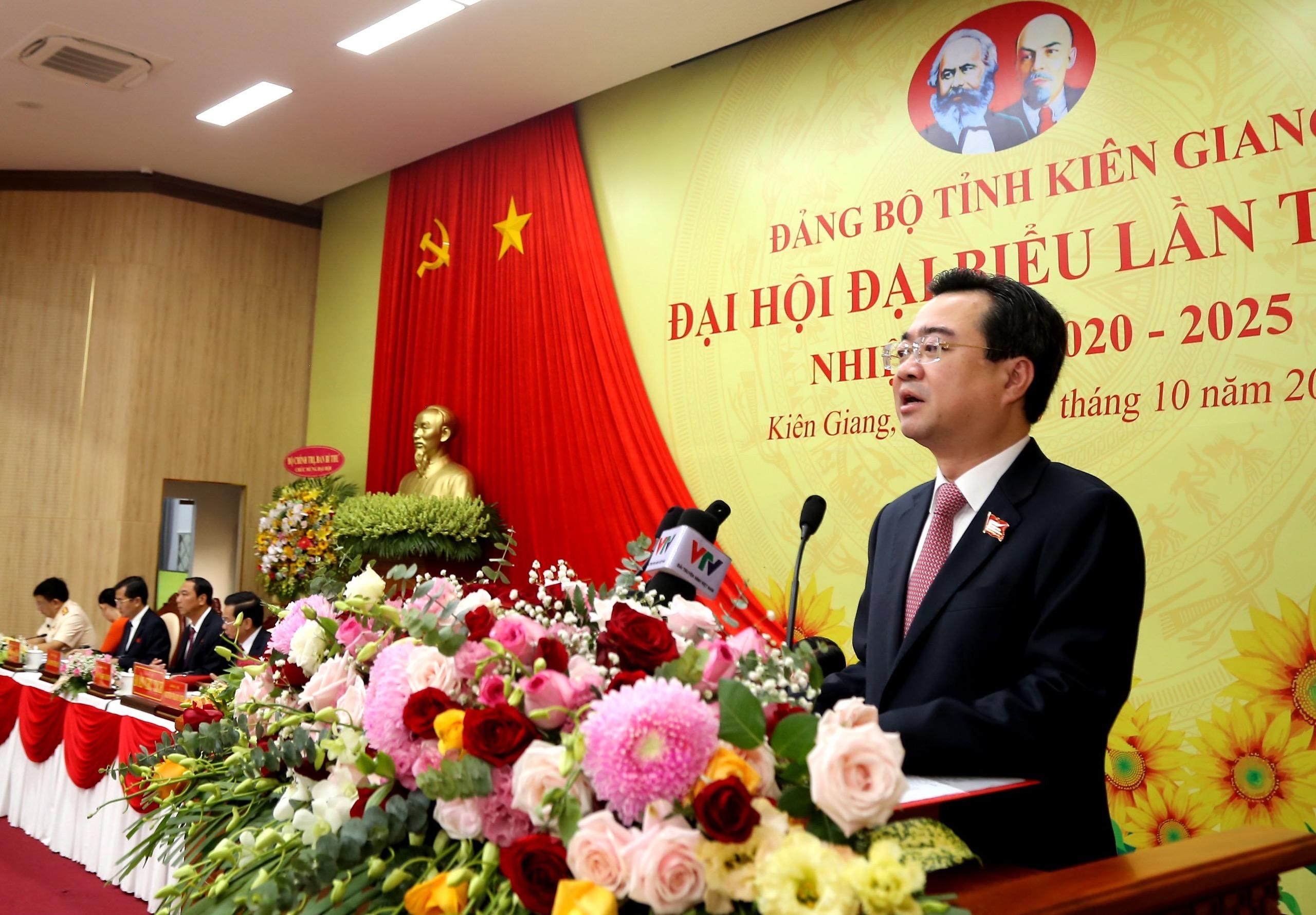 Khai mạc Đại hội Đảng bộ tỉnh Kiên Giang nhiệm kỳ 2020 – 2025 2