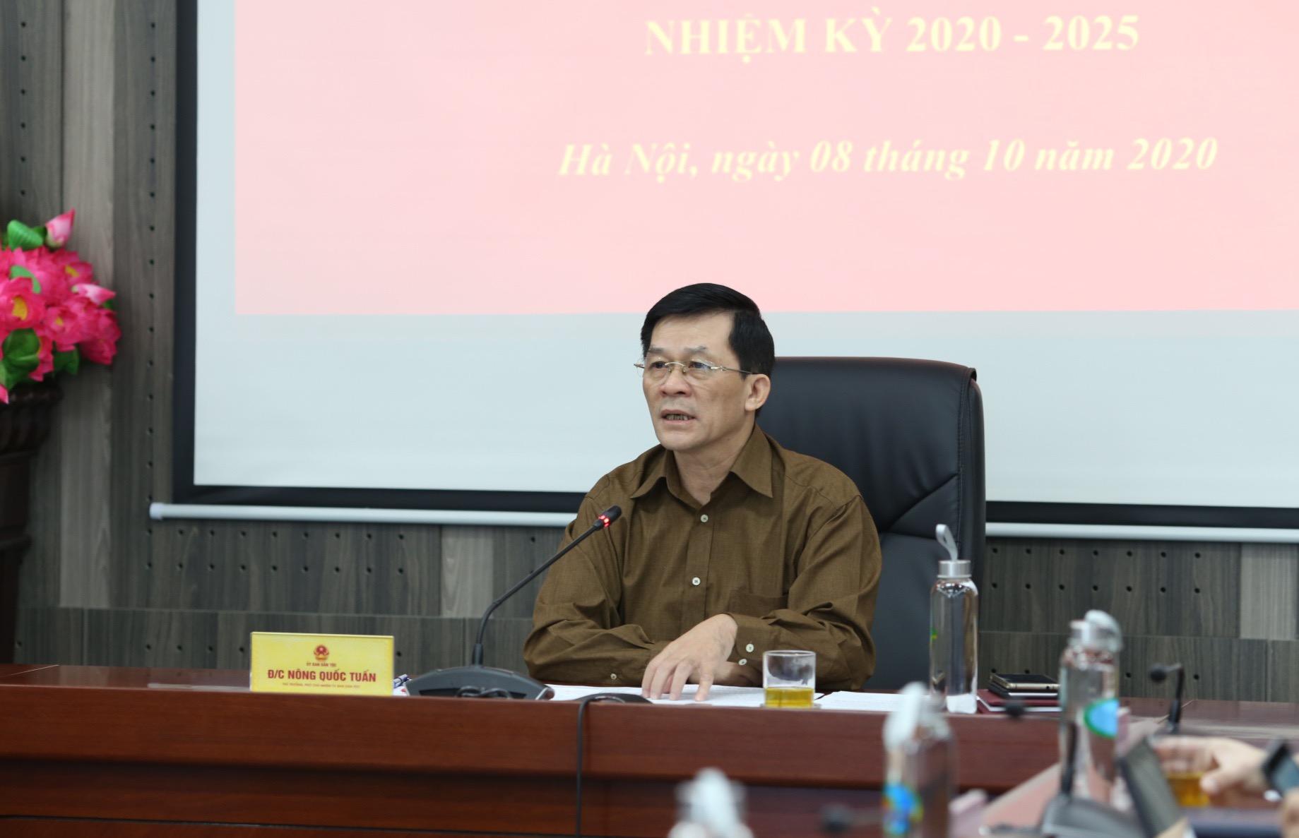 Bí thư Đảng ủy Nông Quốc Tuấn phát biểu tại Hội nghị