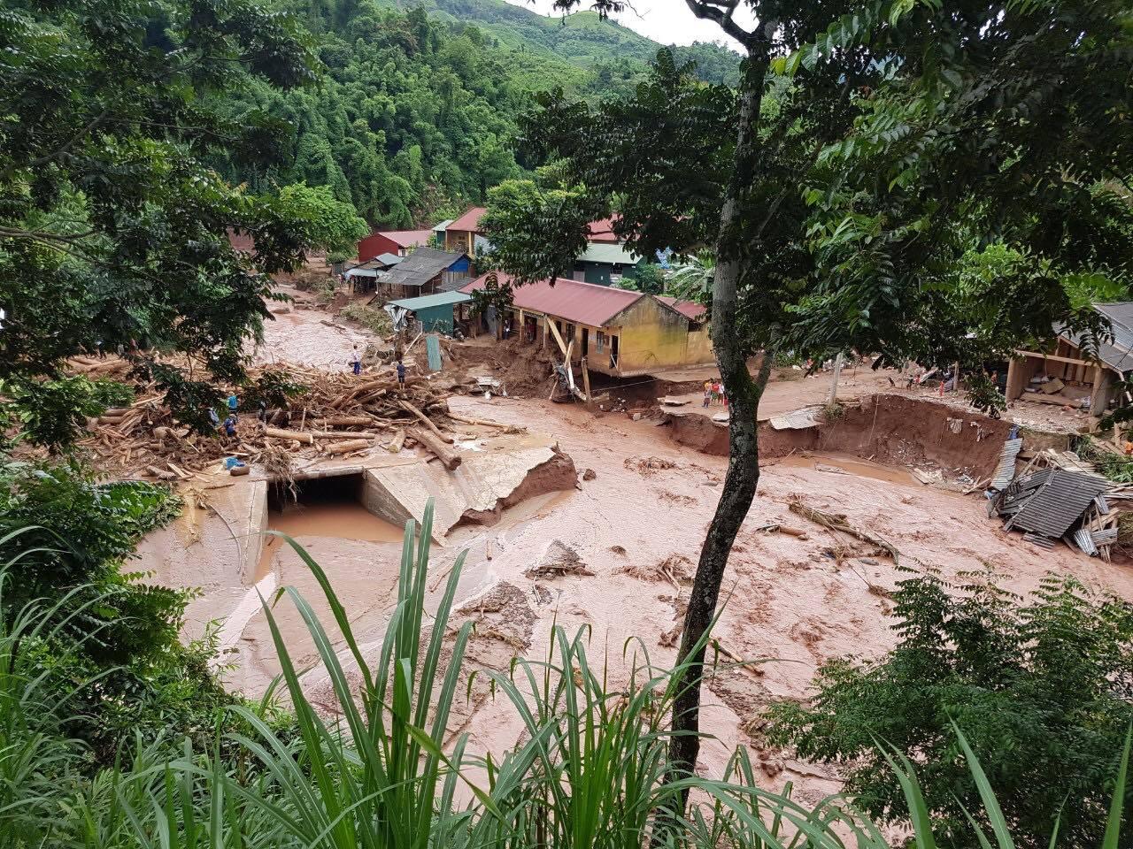 Lũ quét gây thiệt hại nặng nề tại xã Nậm Nhừ, huyện Nậm Pồ, Điện Biên vào ngày 17/8/2020