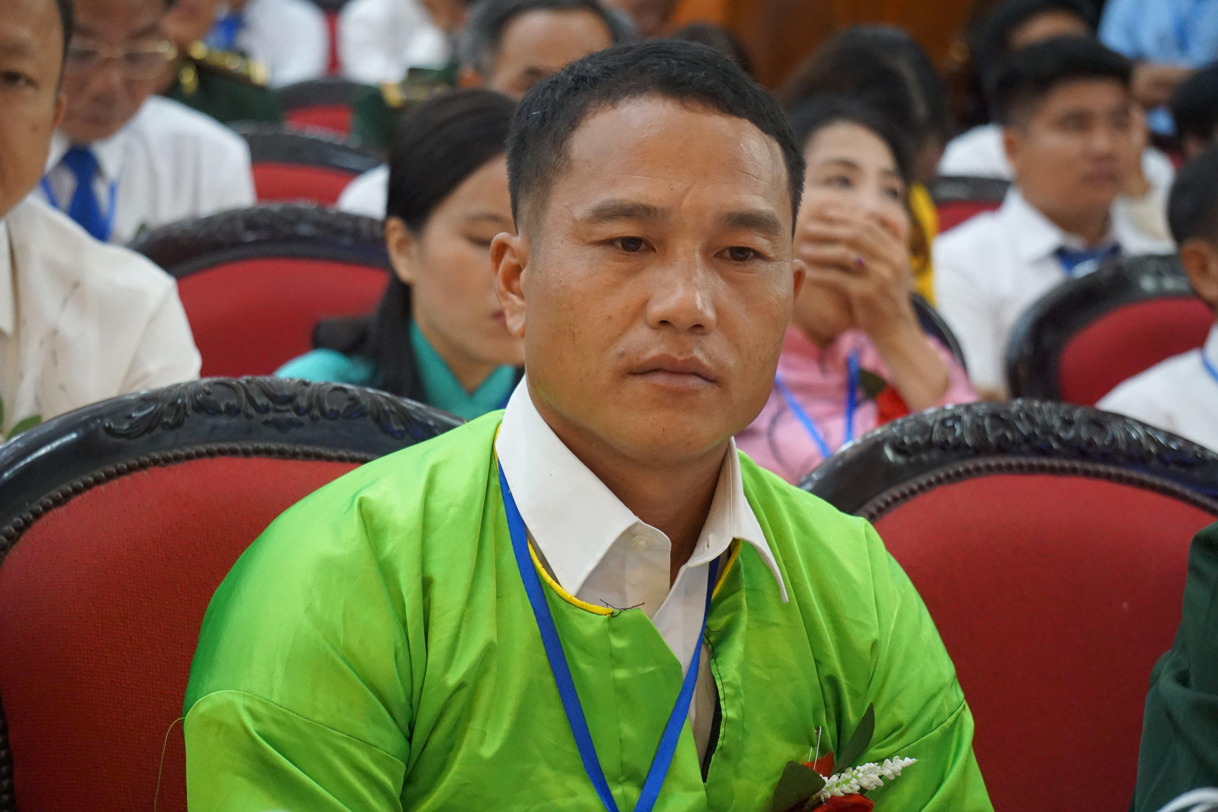 Trưởng bản Thao Văn Dia tại Đại hội thi đua yêu nước tỉnh Thanh Hóa năm 2020