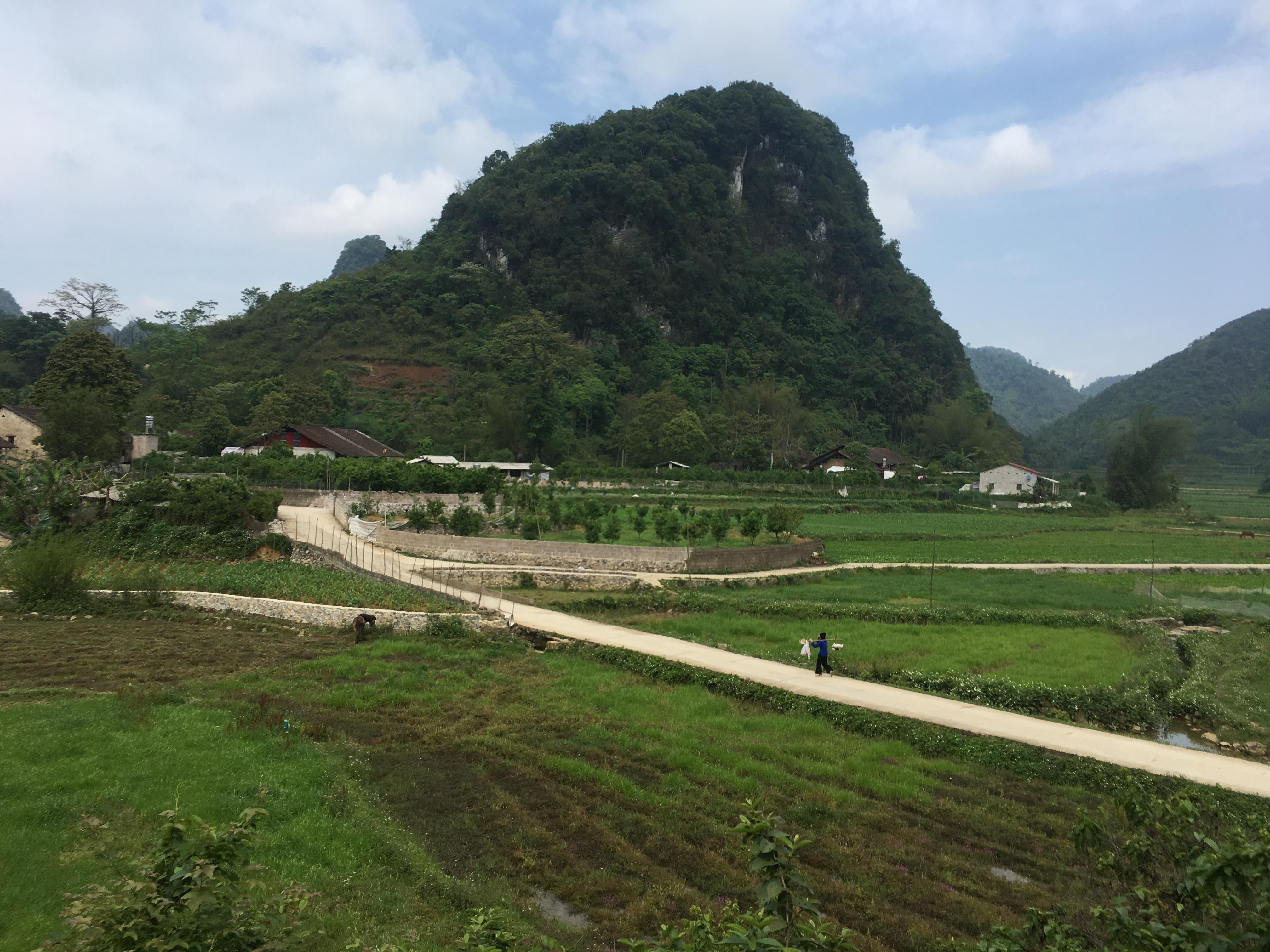 Đường nông thôn được đầu tư từ nguồn vốn Chương trình 135 ở xã Ngọc Côn, huyện Trùng Khánh