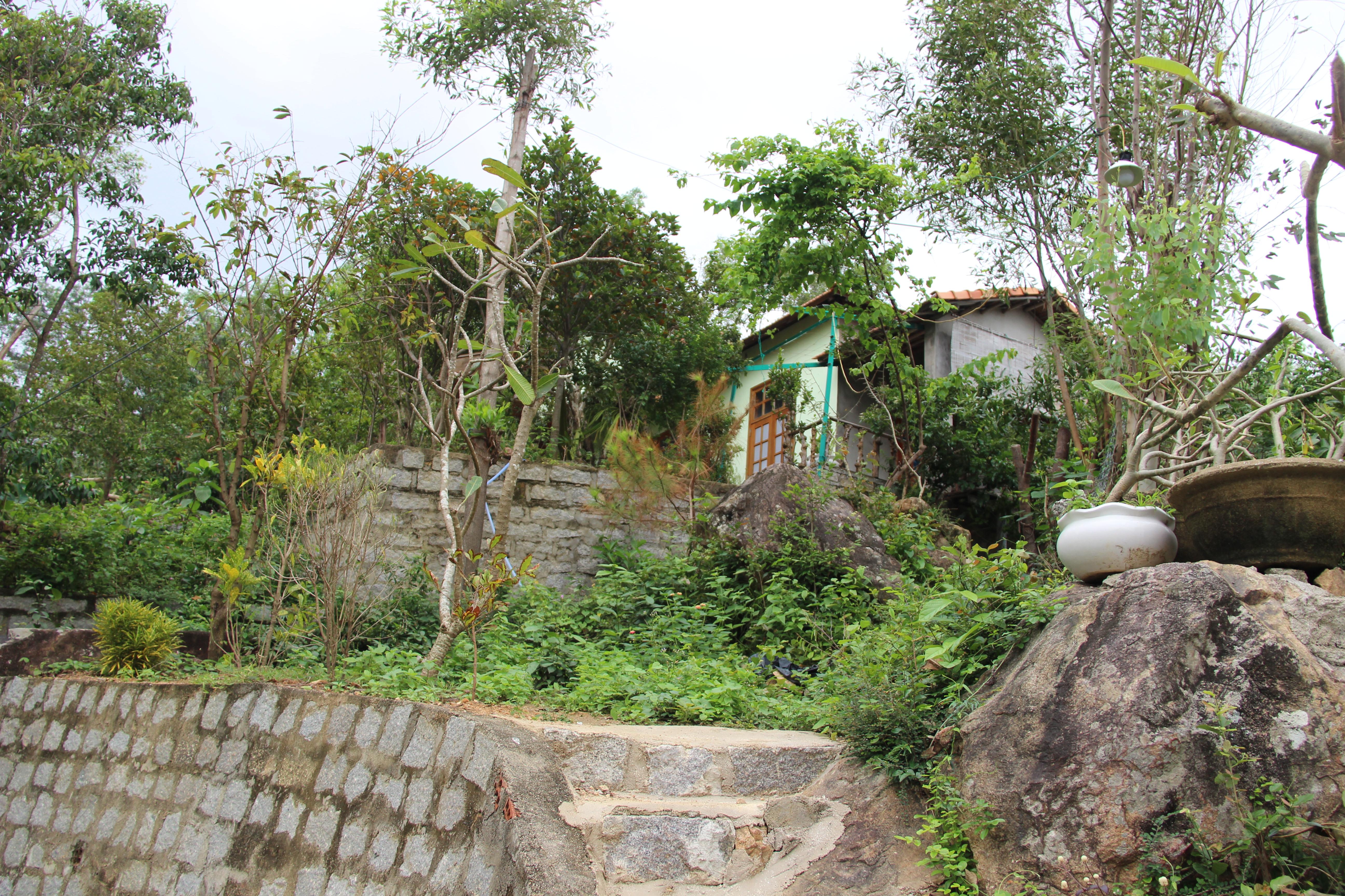 """Căn nhà """"cấp 4"""" xây dựng trái phép của ông Phan Phi Hổ nhìn từ xa"""