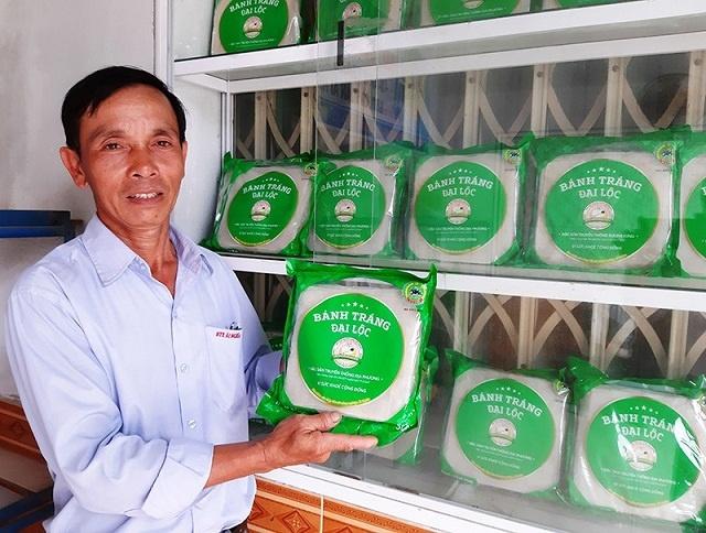 Sản phẩm bánh tráng Đại Lộc của HTX Nông nghiệp Ái Nghĩa được công nhận đạt hạng 4 sao OCOP (Ảnh:TL)